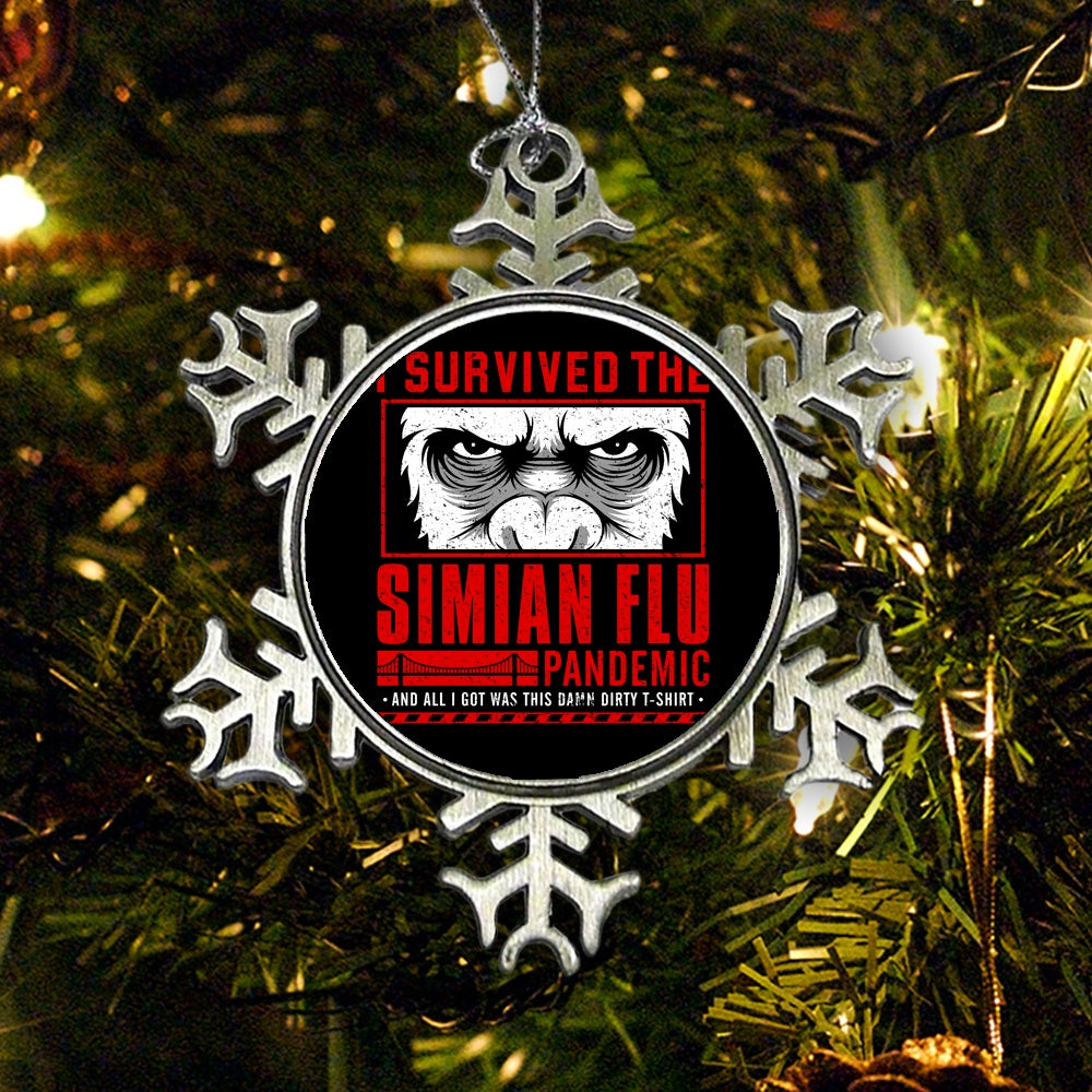 I Survived the Simian Flu - Ornament