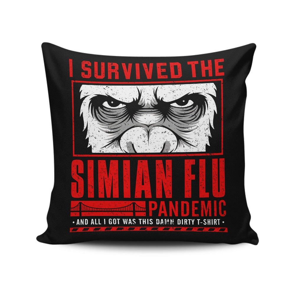 I Survived the Simian Flu - Throw Pillow