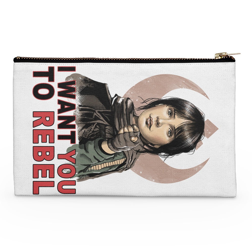 I Want You to Rebel - Accessory Pouch
