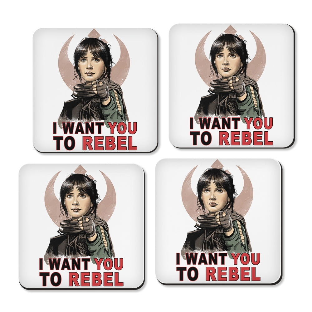 I Want You to Rebel - Coasters