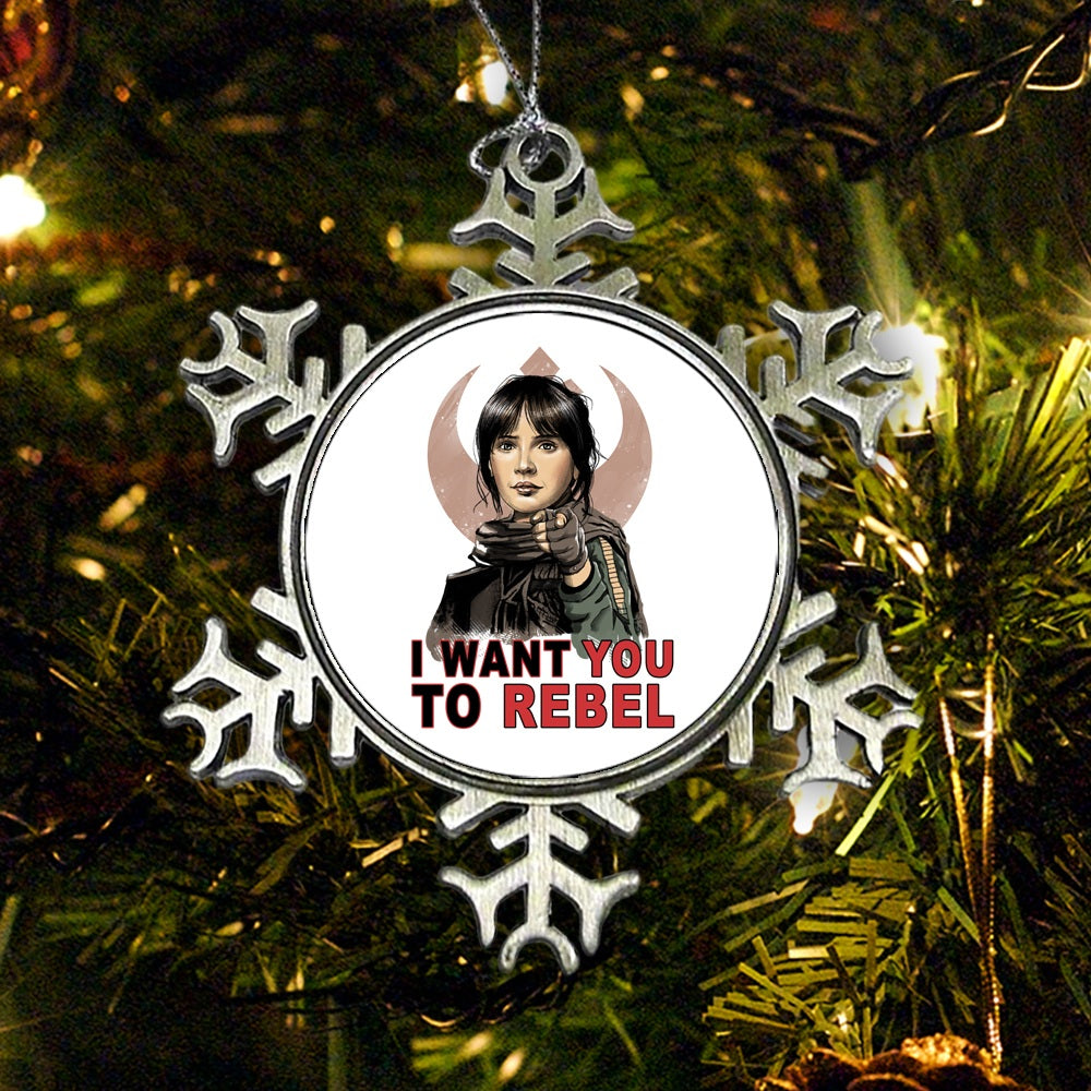 I Want You to Rebel - Ornament