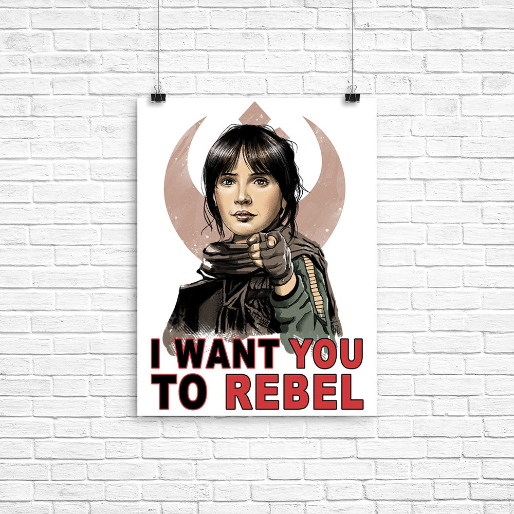 I Want You to Rebel - Poster