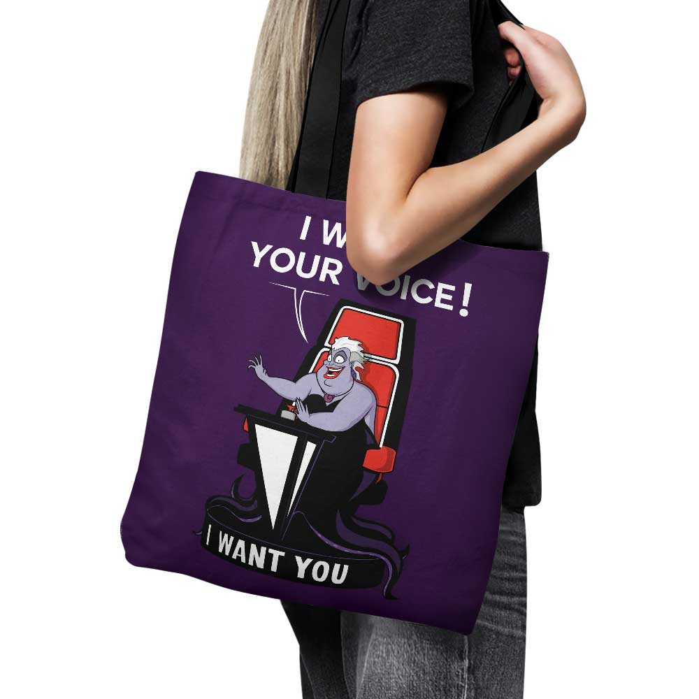 I Want Your Voice - Tote Bag