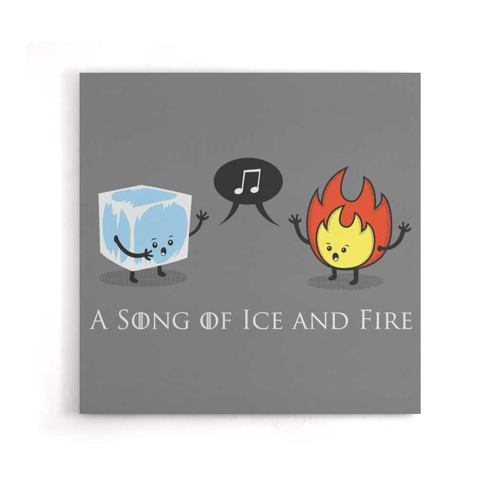 Ice and Fire Duet - Canvas Print