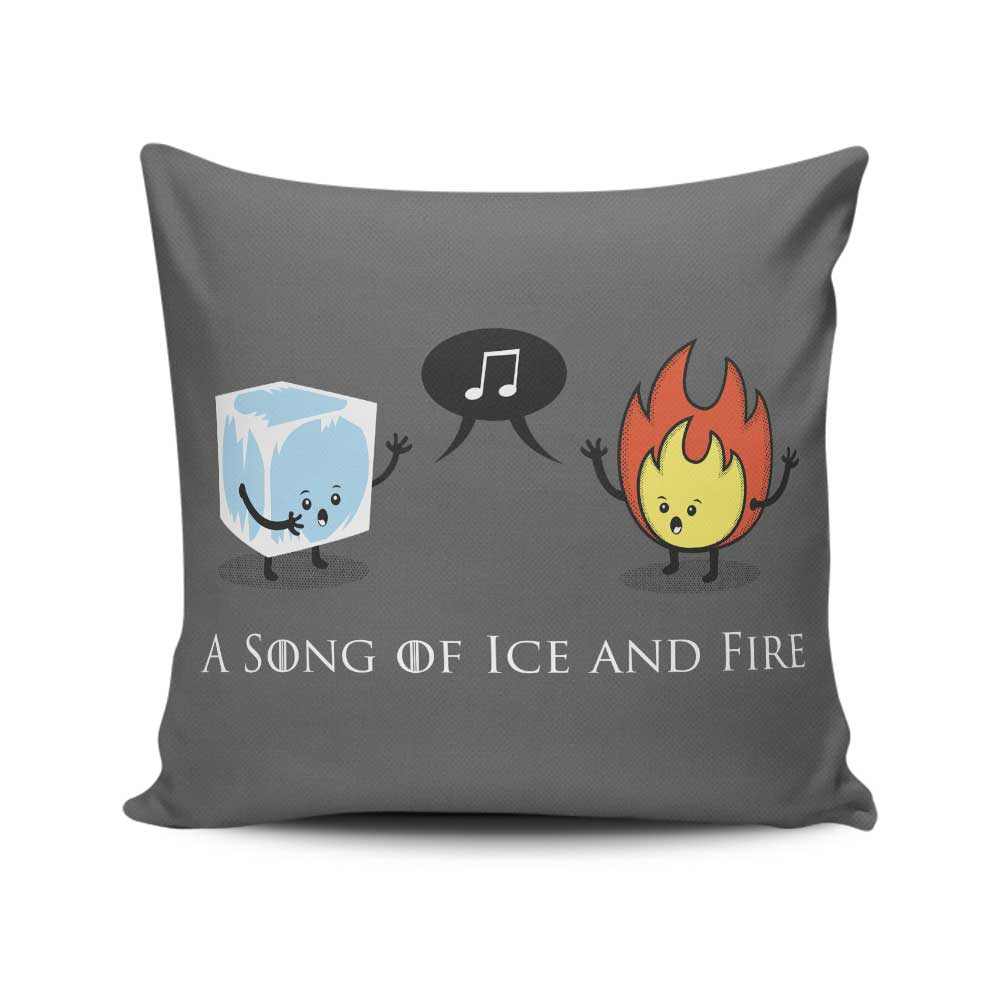 Ice and Fire Duet - Throw Pillow