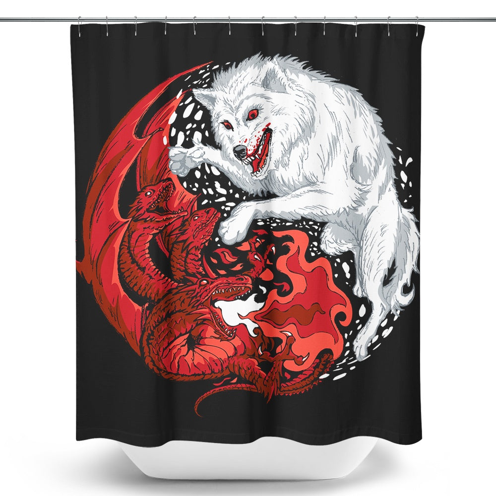 Delicieux Ice And Fire   Shower Curtain