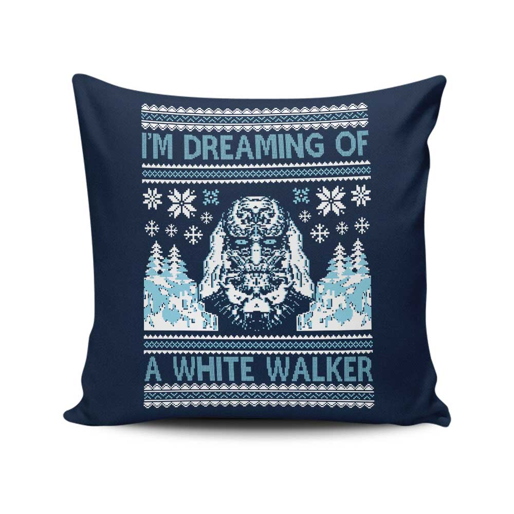 I'm Dreaming of a White Walker - Throw Pillow