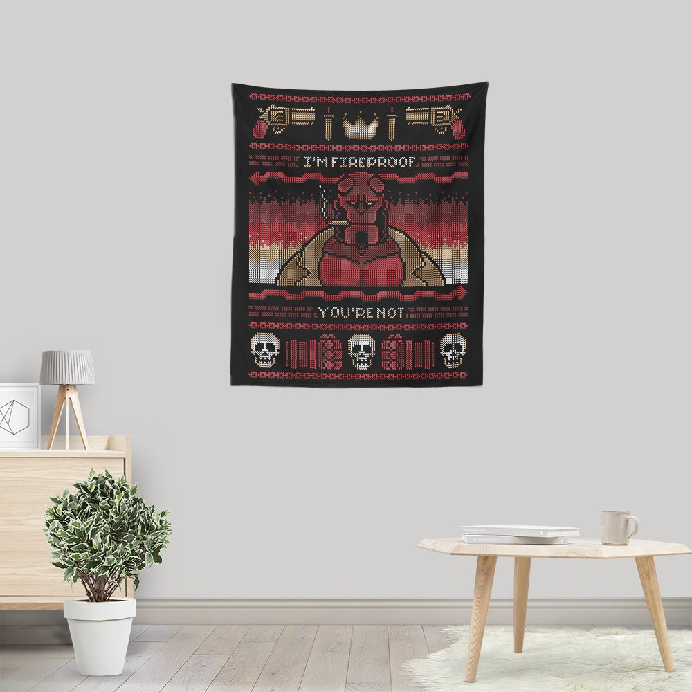 I'm Fireproof - Wall Tapestry