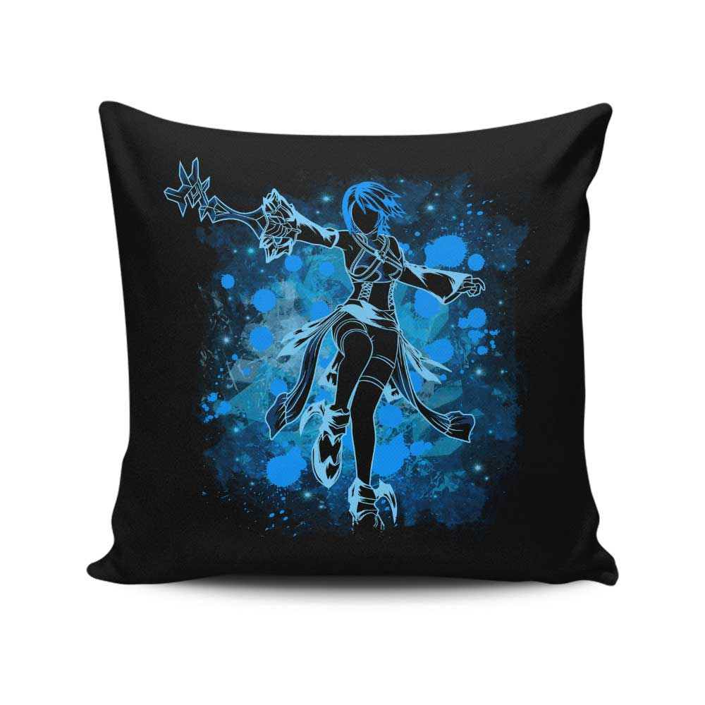 Inked Aqua - Throw Pillow