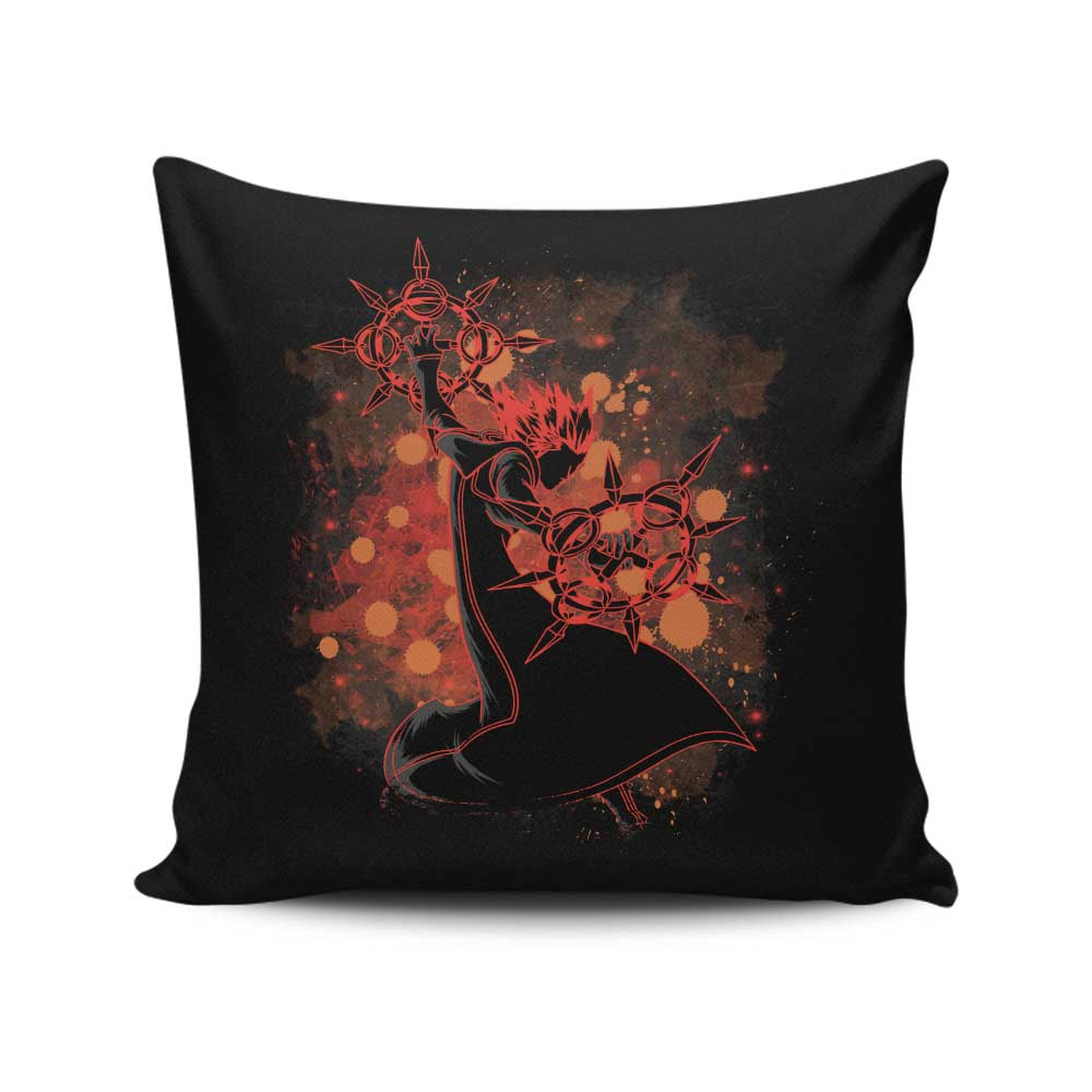 Inked Flurry - Throw Pillow