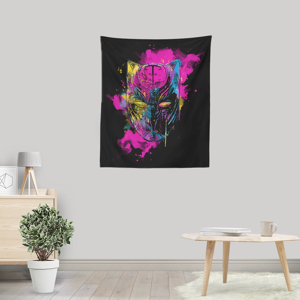 Inked Panther - Wall Tapestry