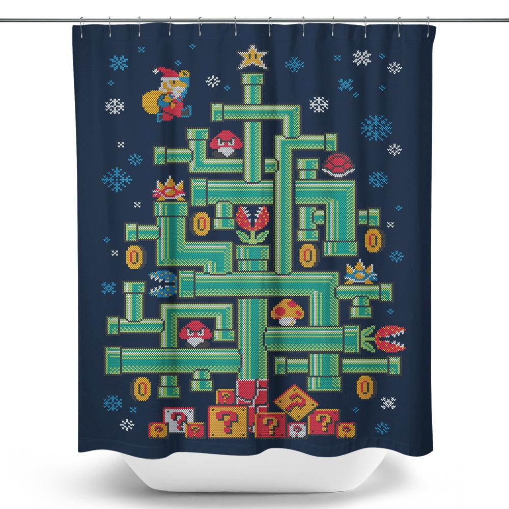 It's a Tree Mario - Shower Curtain