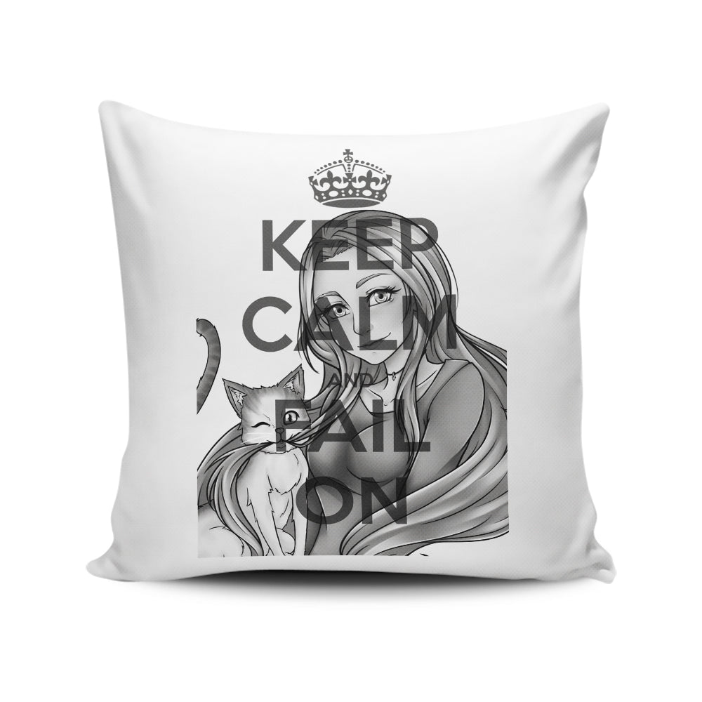 Keep Calm and Fail On - Throw Pillow