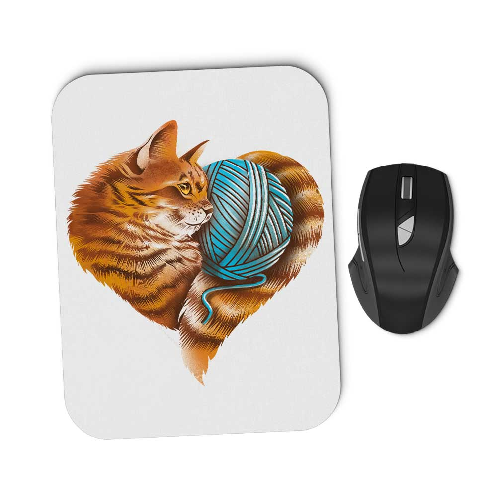Knitting Kitten Love - Mousepad