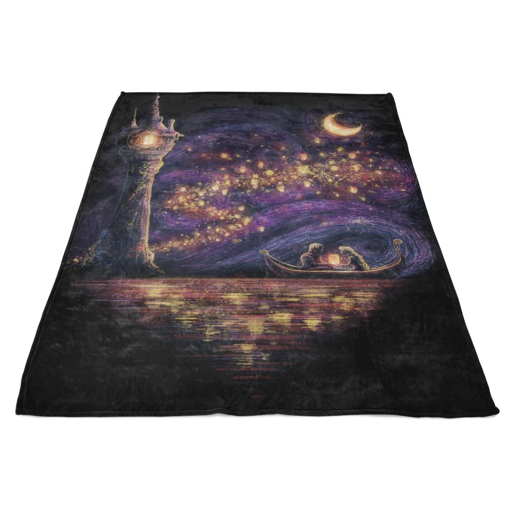 Lanterns of Hope - Fleece Blanket