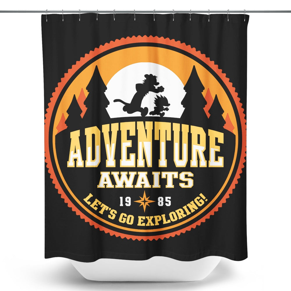 Let's Go Exploring - Shower Curtain
