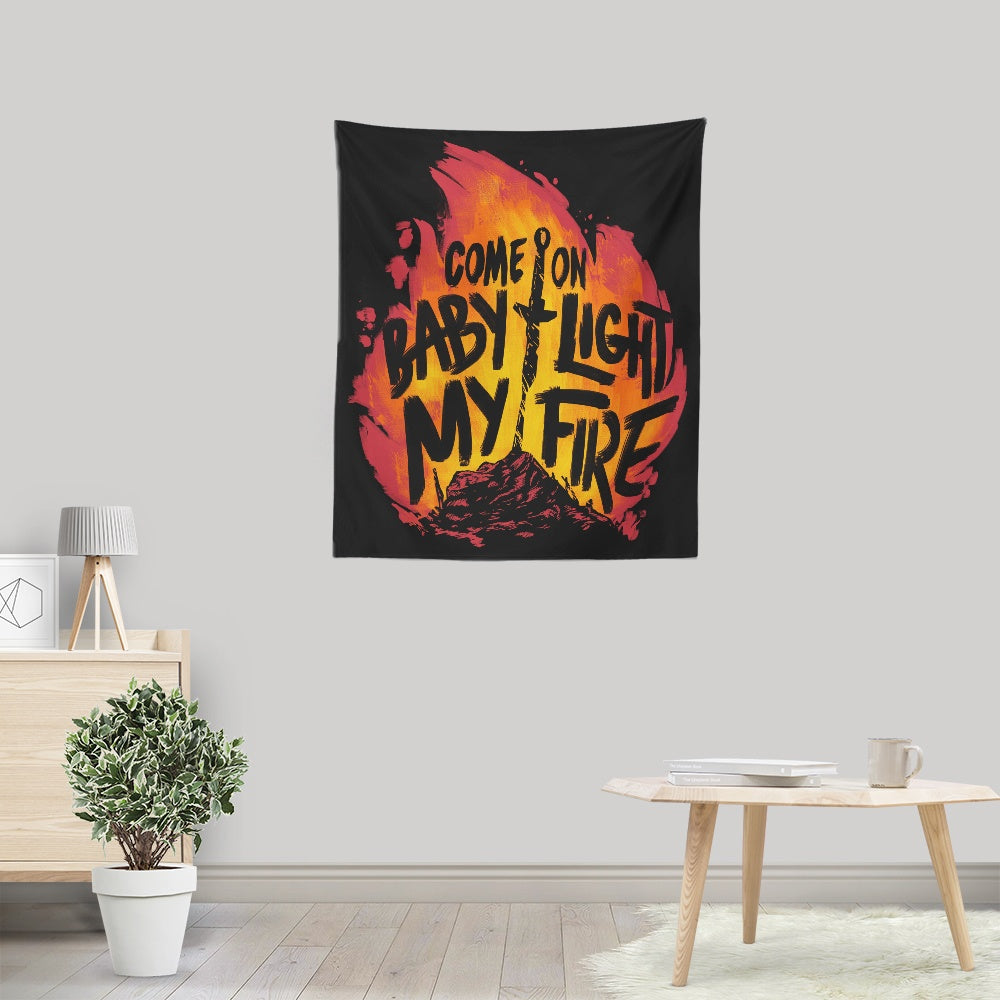 Light My Fire - Wall Tapestry