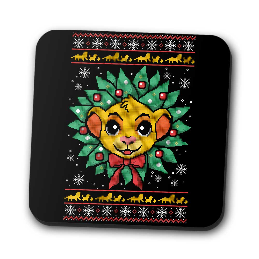 Lion Christmas - Coasters