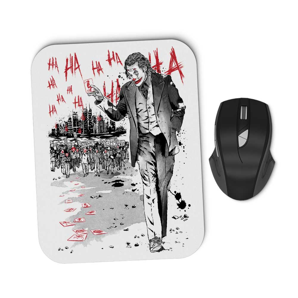 Lone Comedian and Cubs - Mousepad