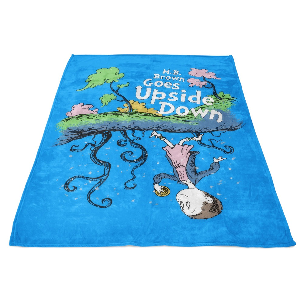 MB Brown Goes Upside Down - Fleece Blanket