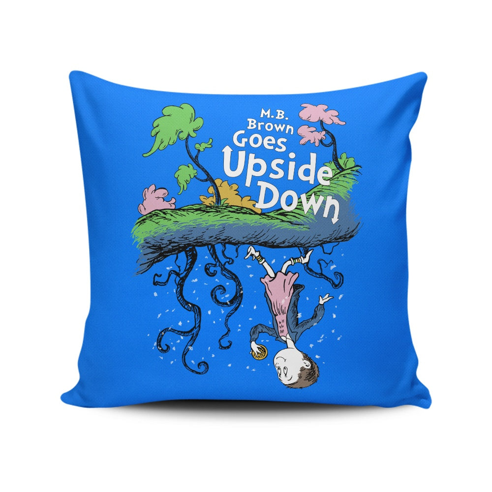 MB Brown Goes Upside Down - Throw Pillow