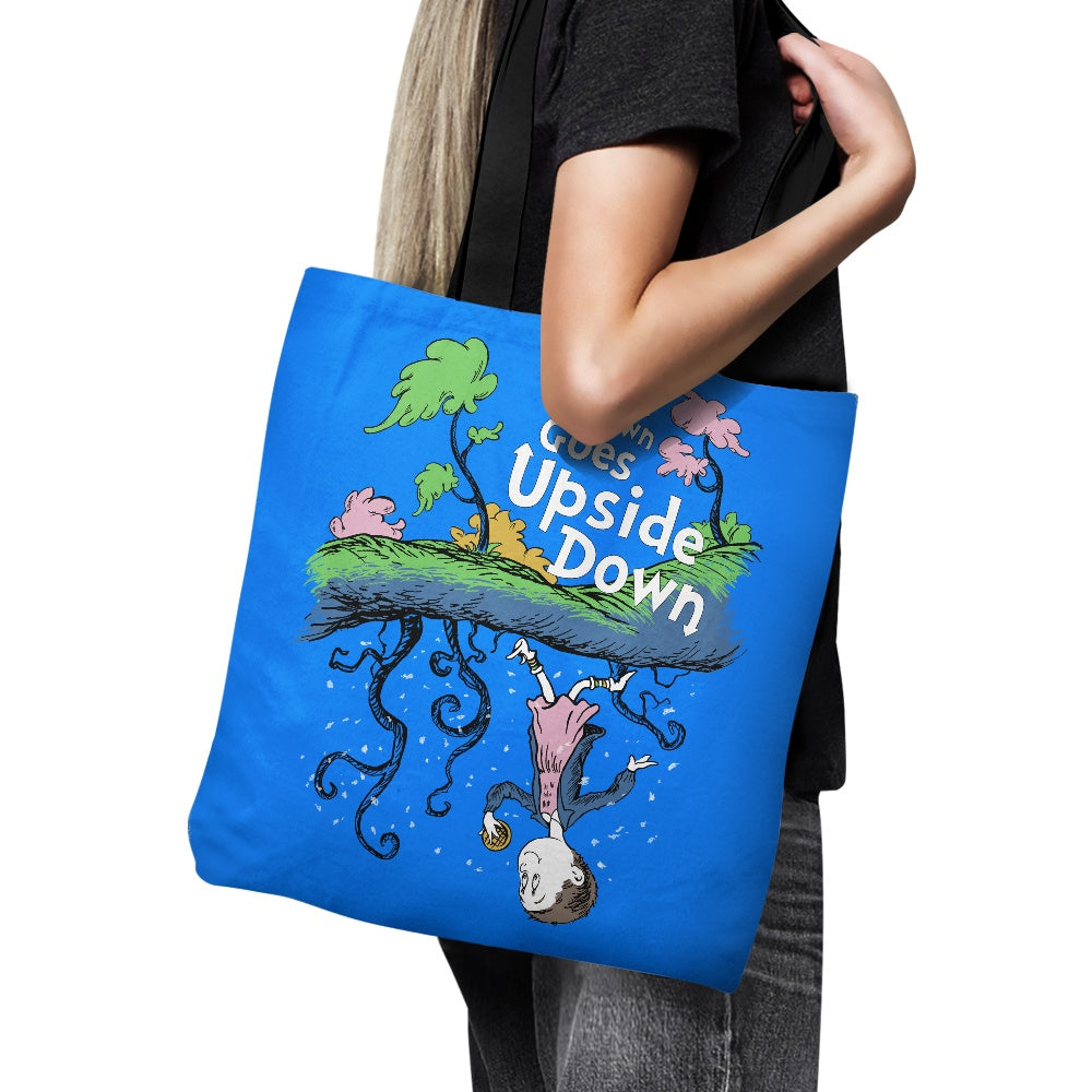 MB Brown Goes Upside Down - Tote Bag
