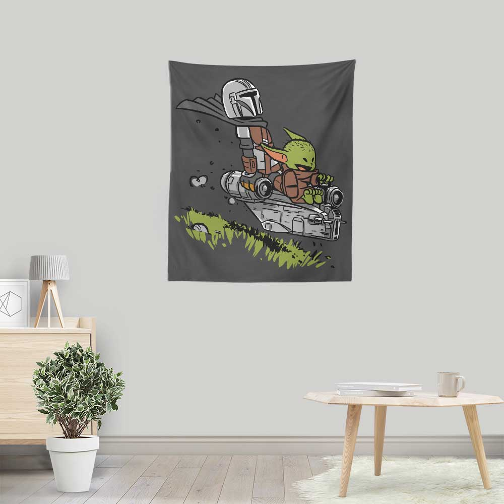 Mando and Child - Wall Tapestry
