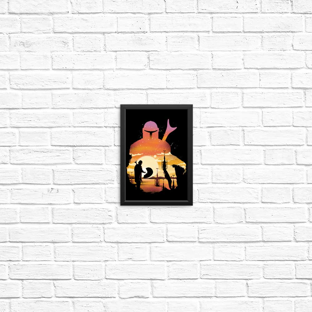 Mando Sunset - Posters & Prints