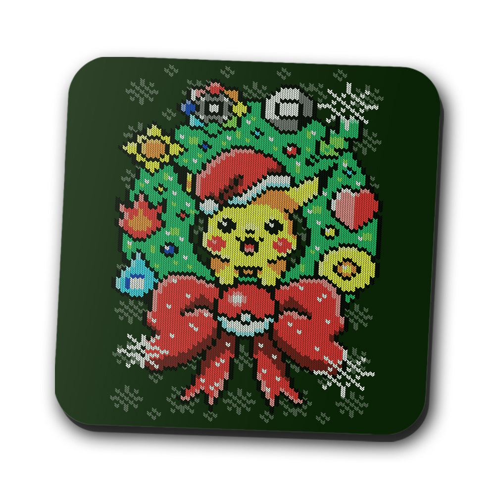 Merry Pika Christmas - Coasters