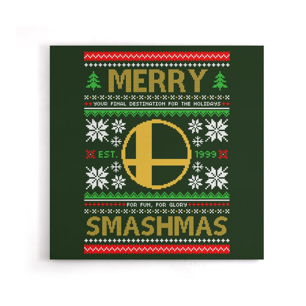 Merry Smashmas - Canvas Print