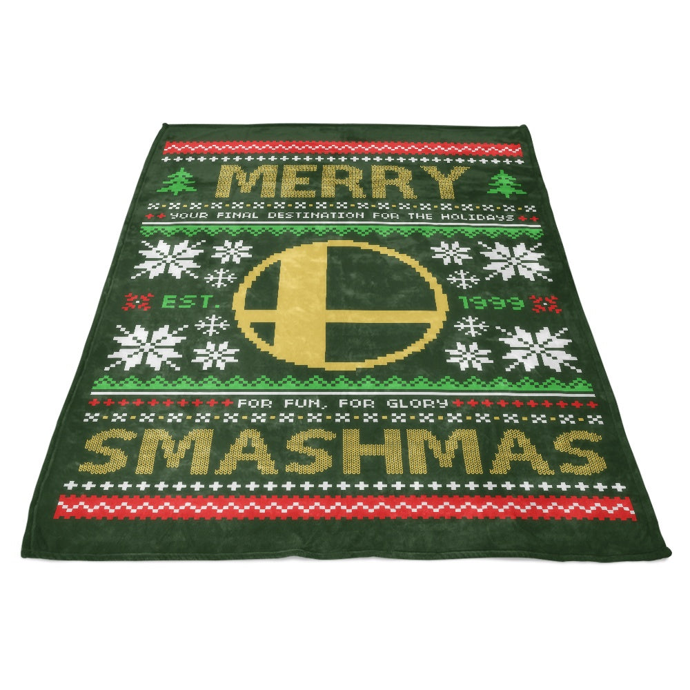 Merry Smashmas - Fleece Blanket