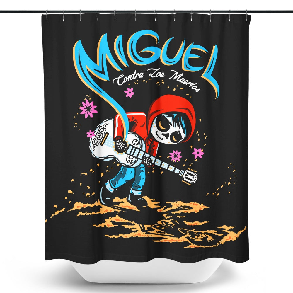 Miguel vs. the Dead (Alt) - Shower Curtain