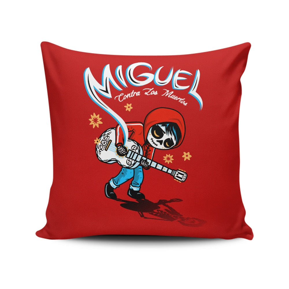 Miguel vs. the Dead - Throw Pillow