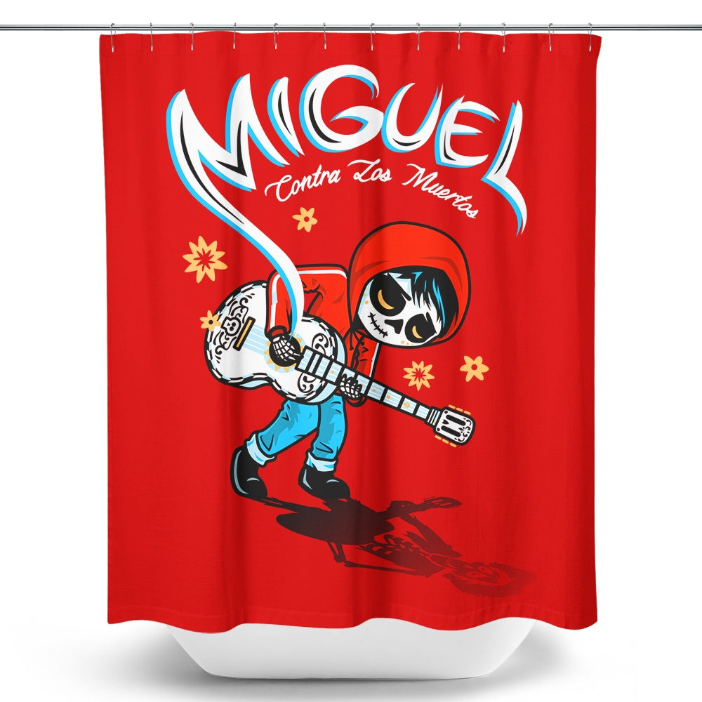 Miguel vs. the Dead - Shower Curtain