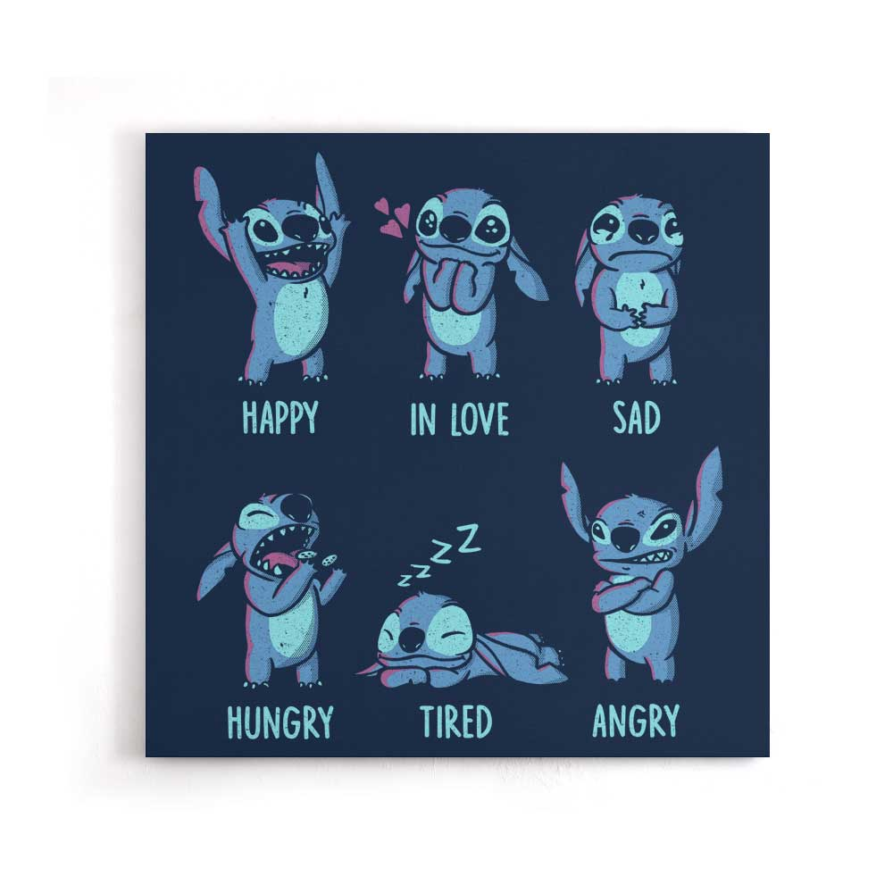 Monster Emotions - Canvas Print