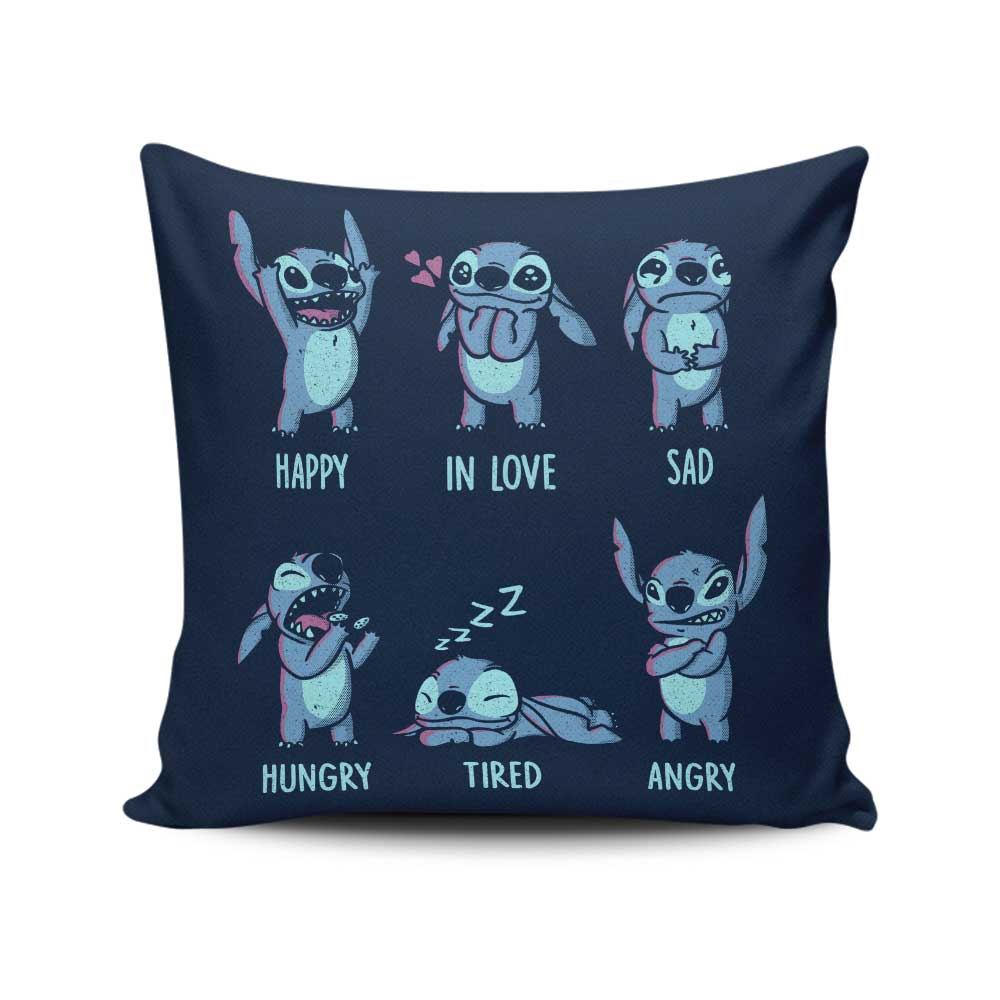 Monster Emotions - Throw Pillow