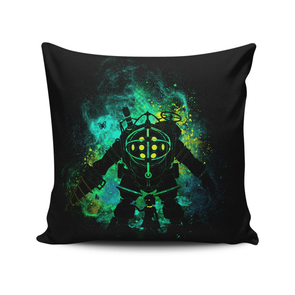Mr. Bubble Art - Throw Pillow