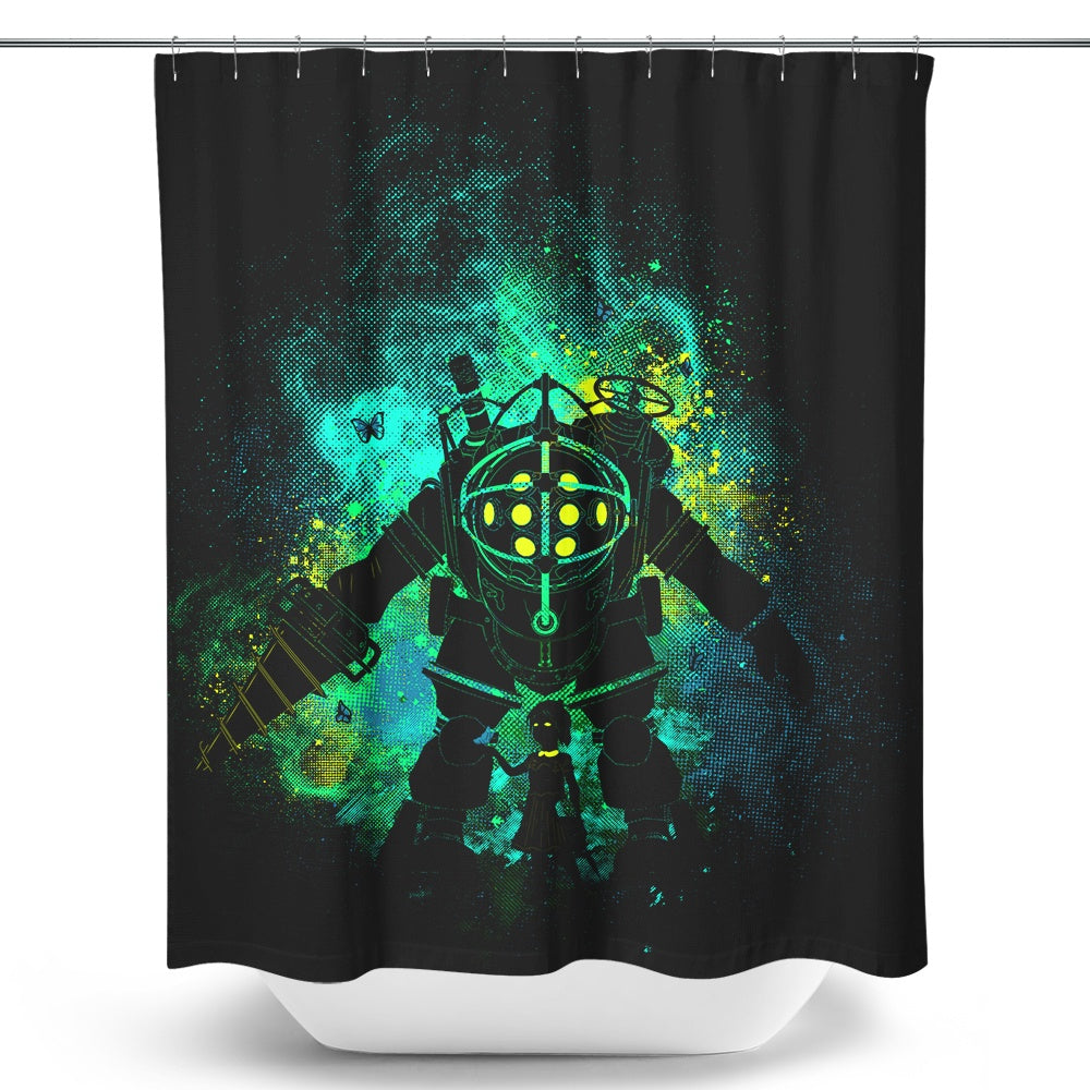 Mr. Bubble Art - Shower Curtain