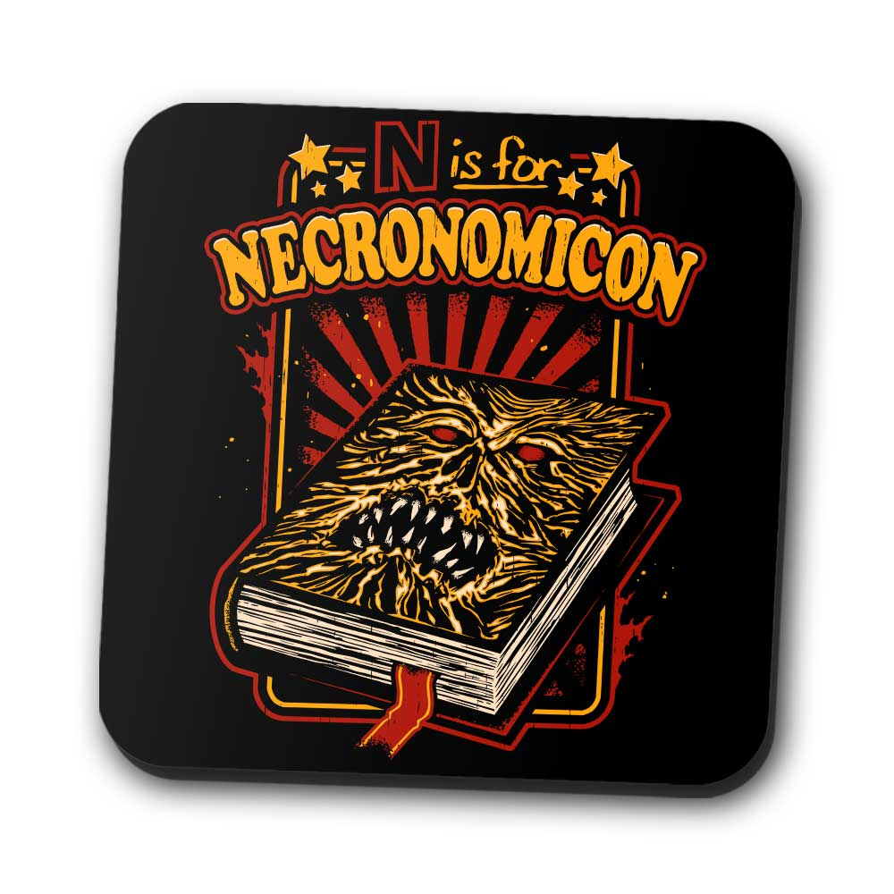 N is for Necronomicon - Coasters