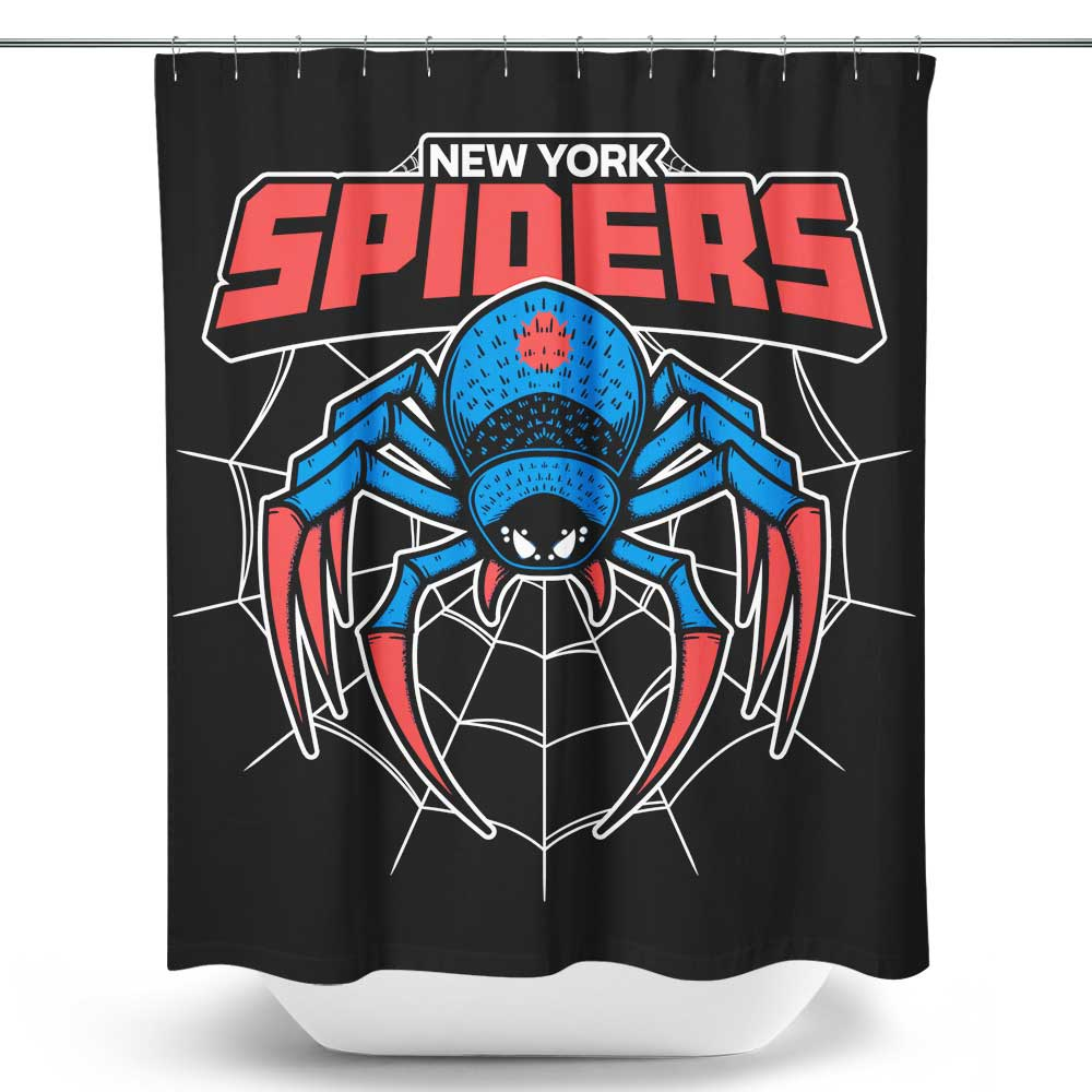 New York Spiders - Shower Curtain
