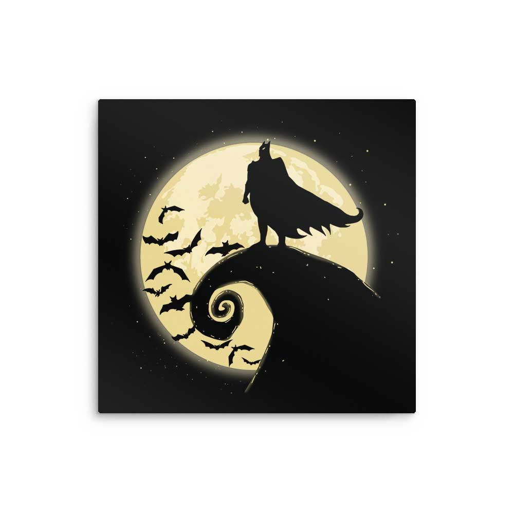 Nightmare Before Batmas - Metal Print