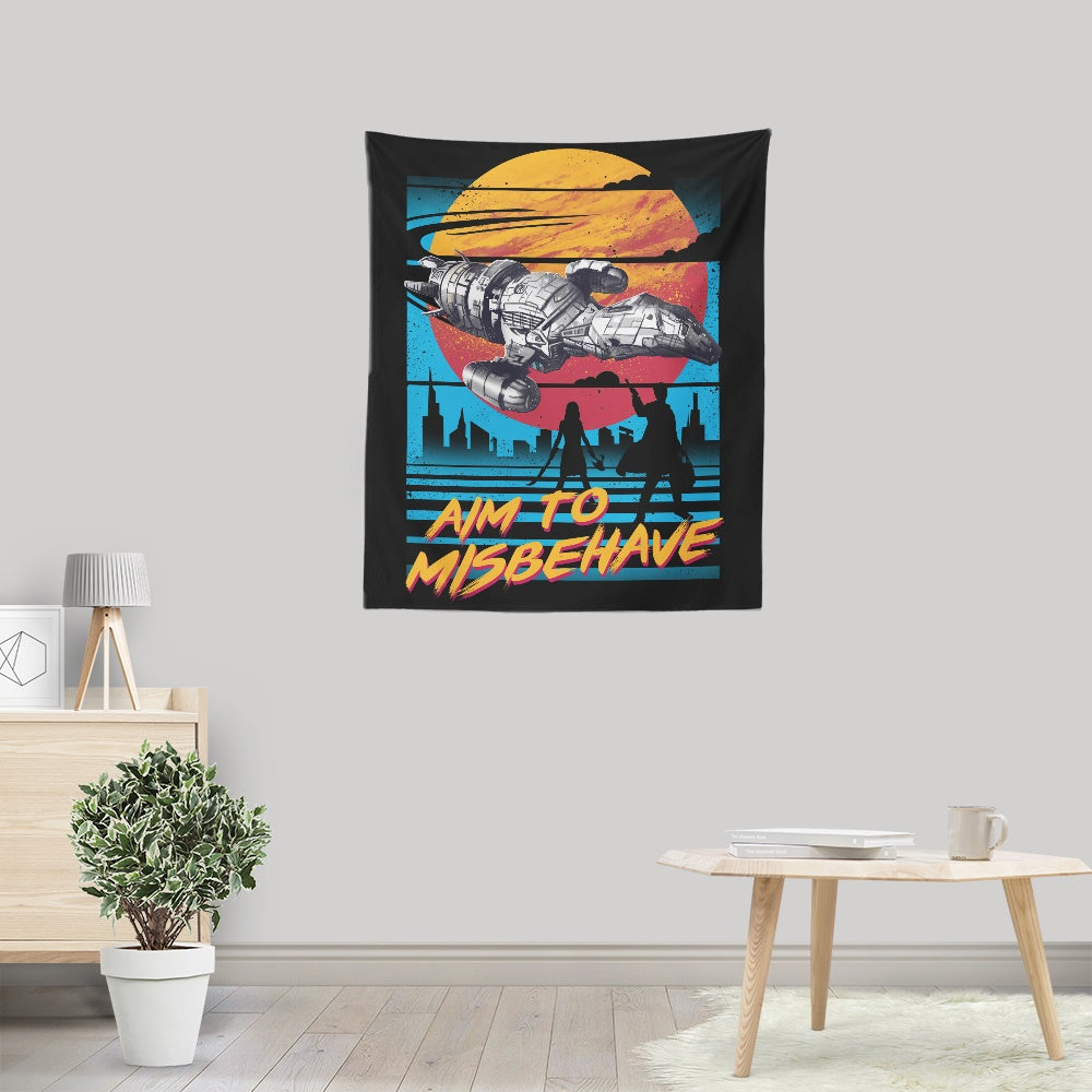 No More Running (Alt) - Wall Tapestry