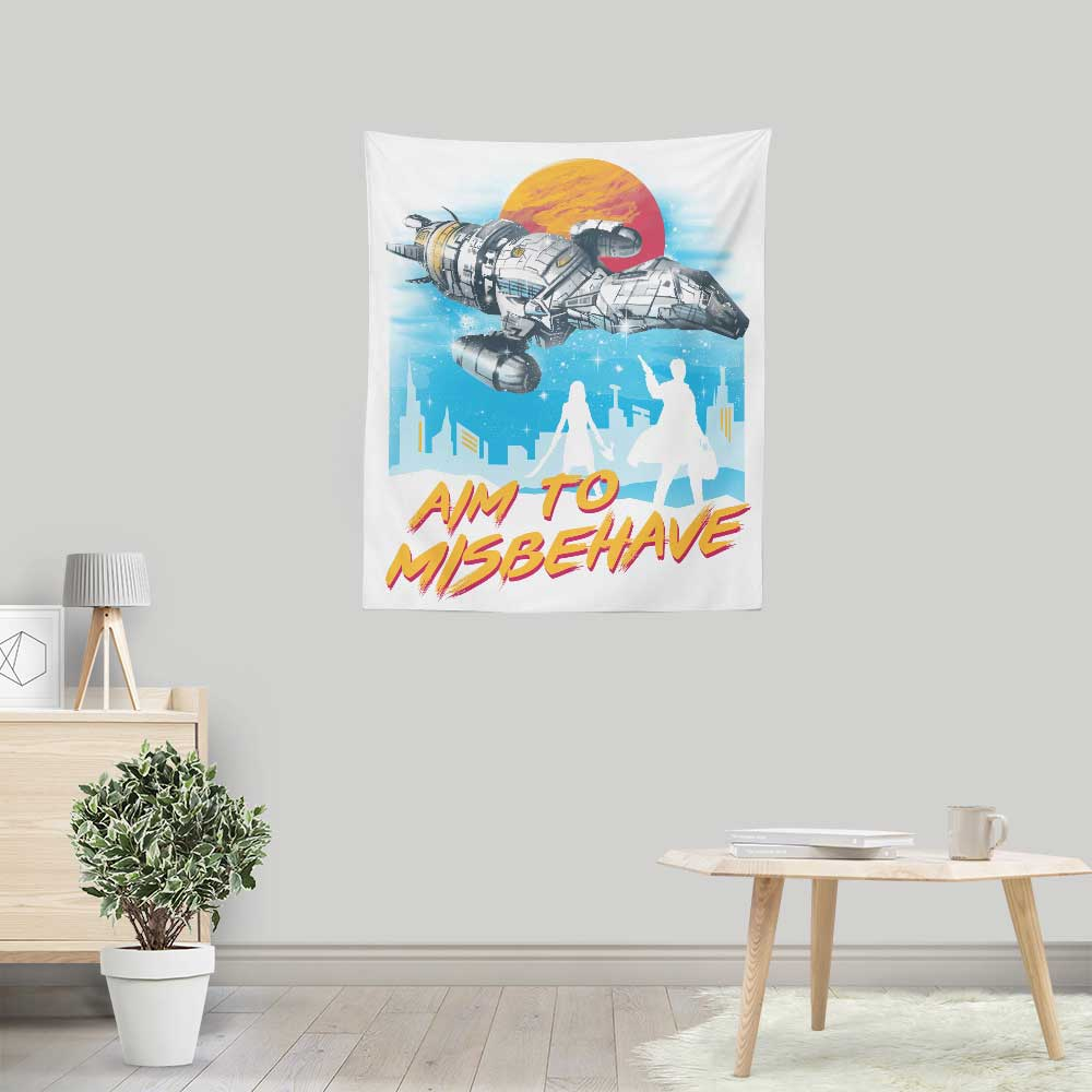 No More Running - Wall Tapestry