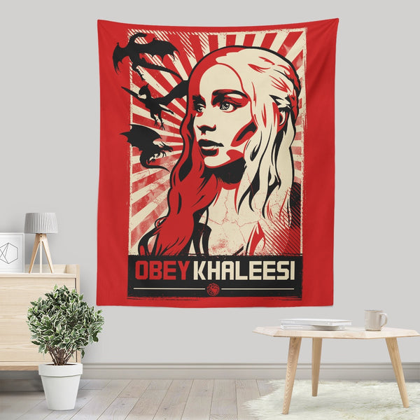 Obey Khaleesi - Wall Tapestry | Once Upon a Tee