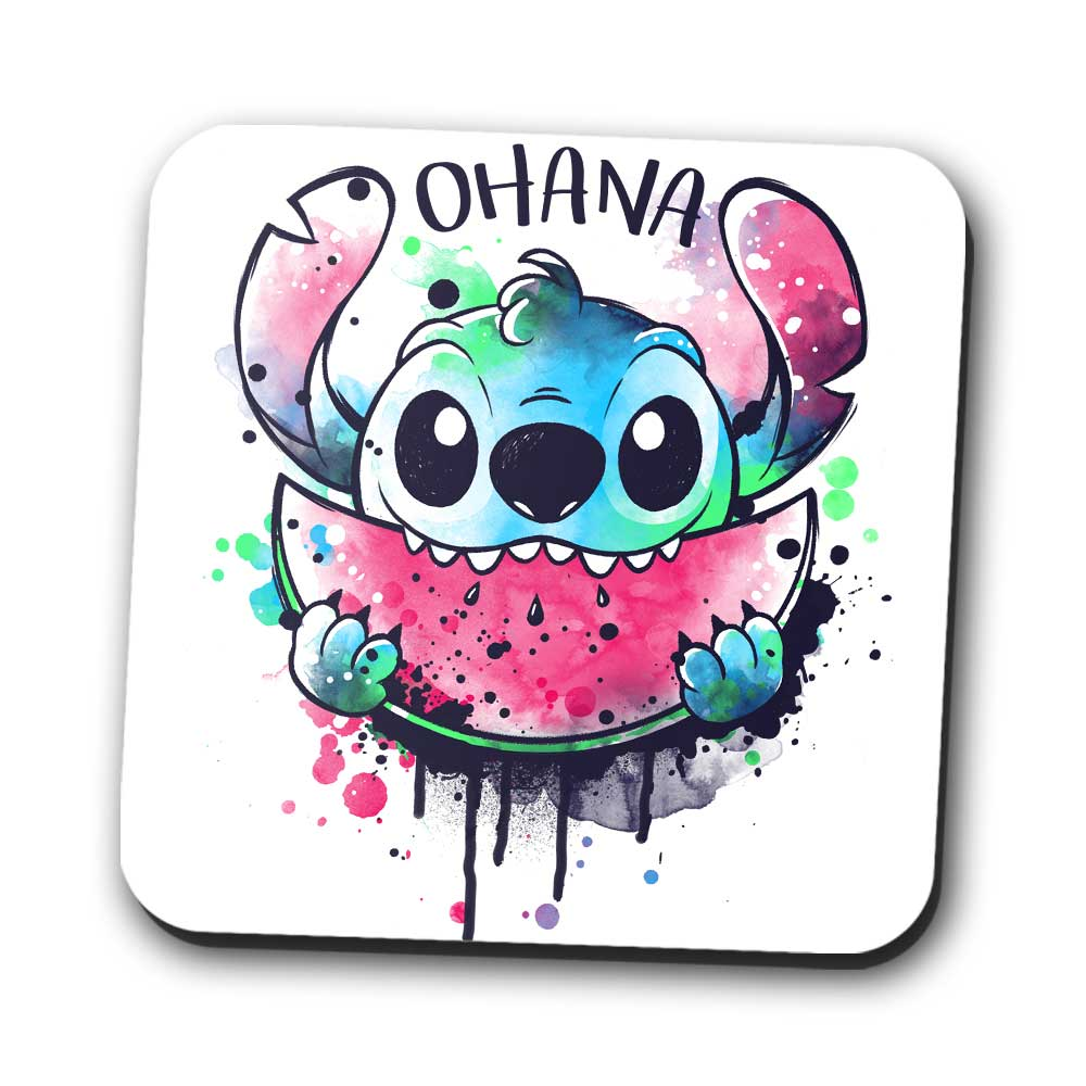 Ohana Watercolormelon - Coasters