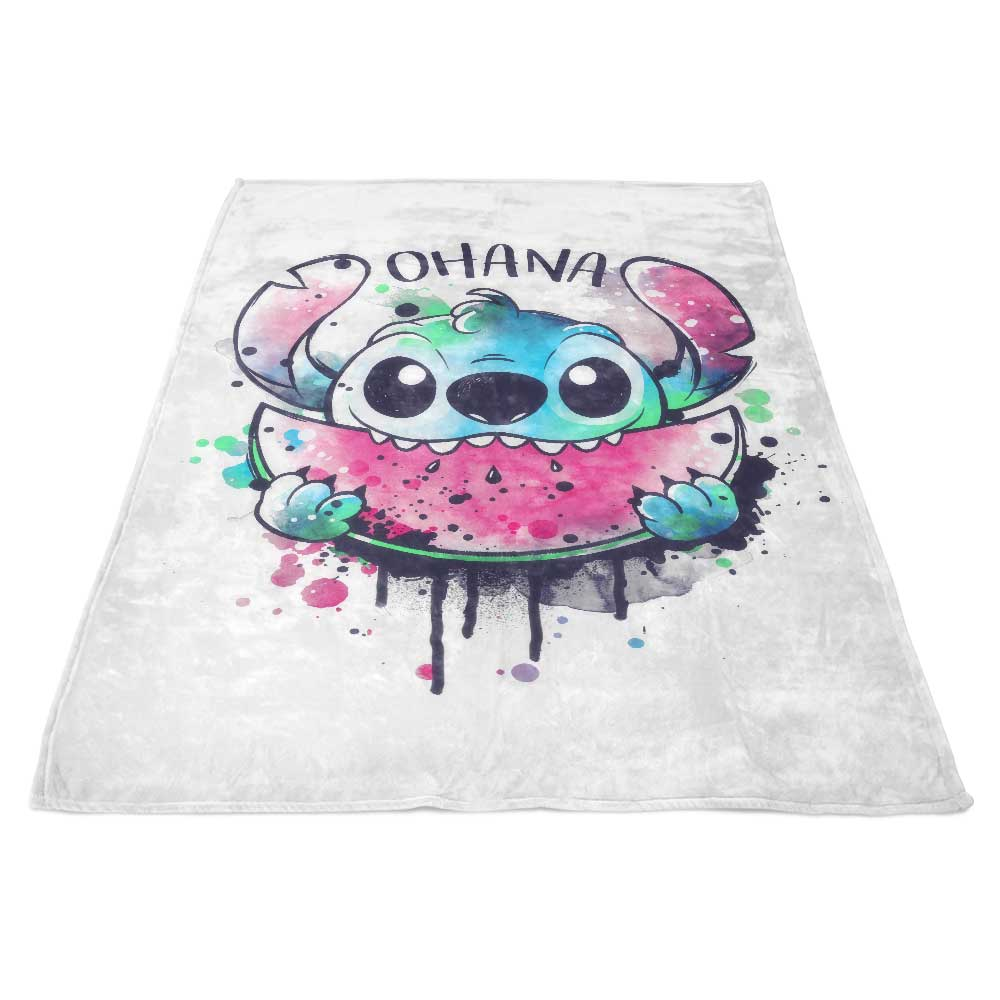 Ohana Watercolormelon - Fleece Blanket