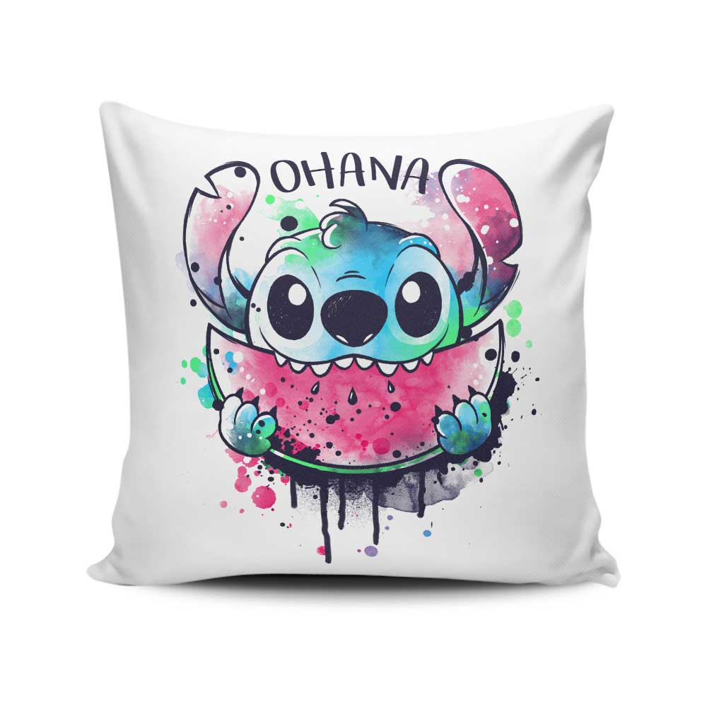 Ohana Watercolormelon - Throw Pillow
