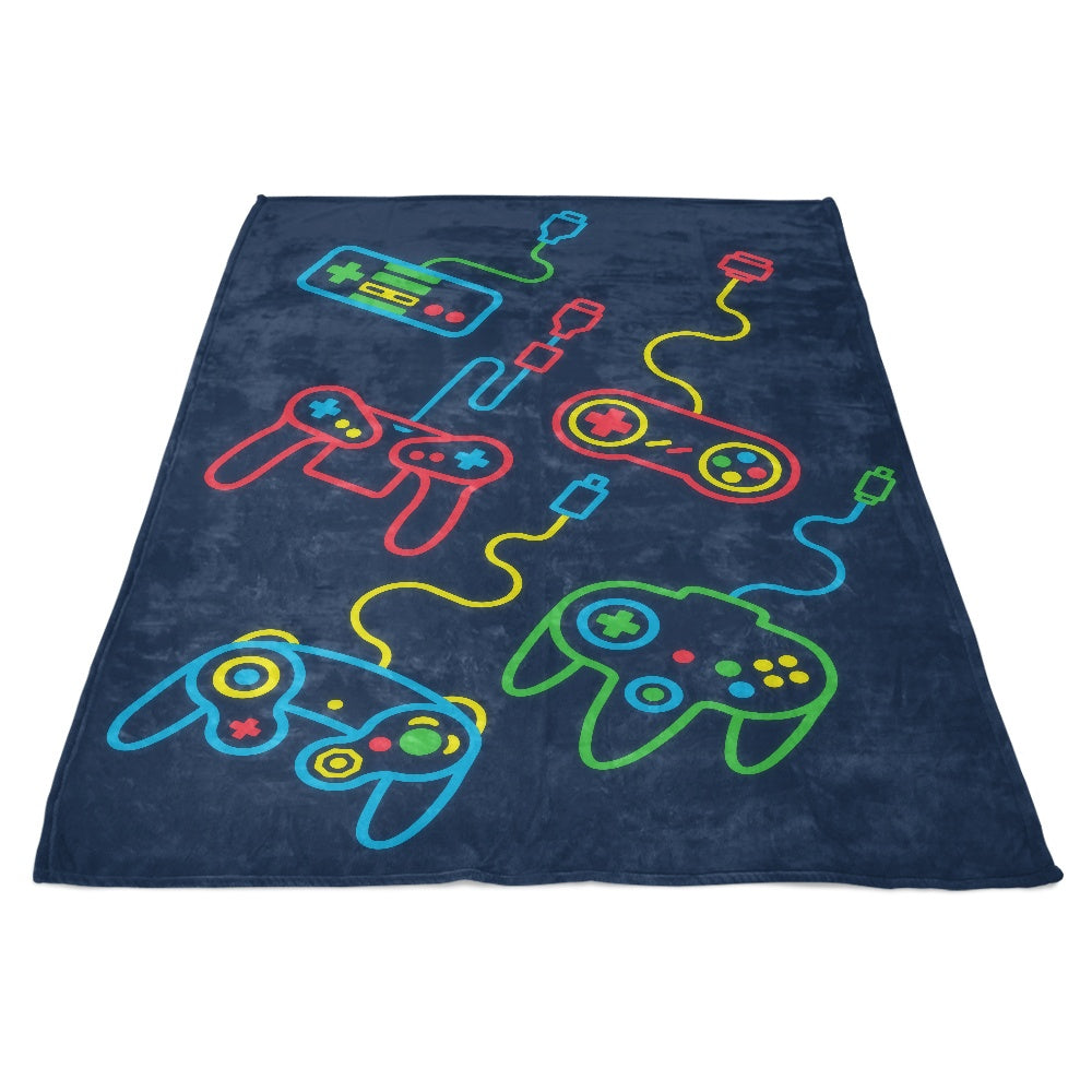 Old School - Fleece Blanket