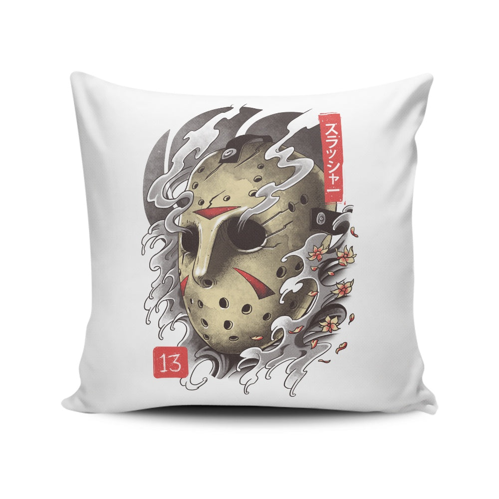 Oni 13 Mask - Throw Pillow