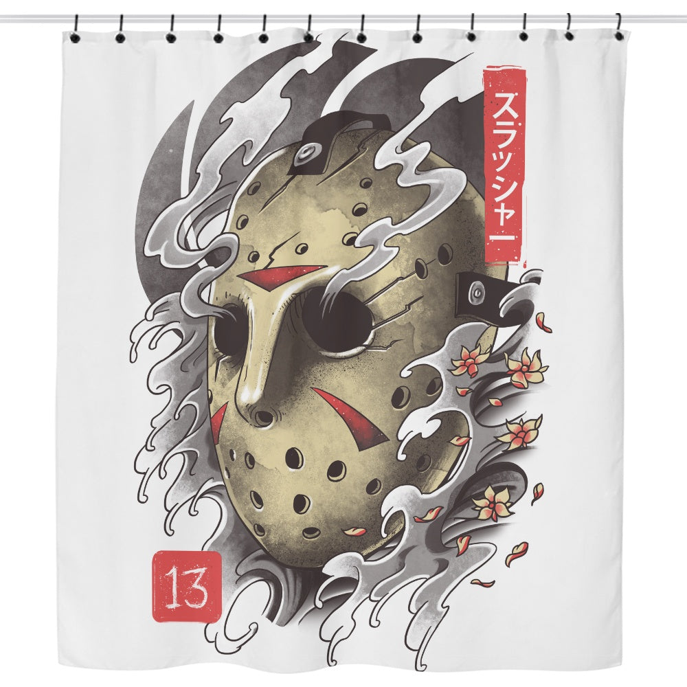 Oni 13 Mask - Shower Curtain